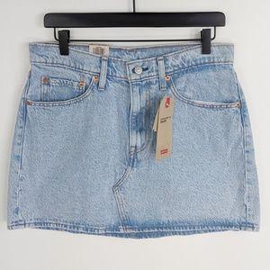 Levi's Deconstructed Mini Denim Skirt